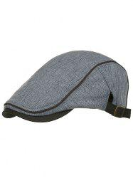 Unique Solid Color Adjustable Newsboy Hat -