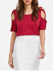 Open Shoulder Criss Cross T-shirt -