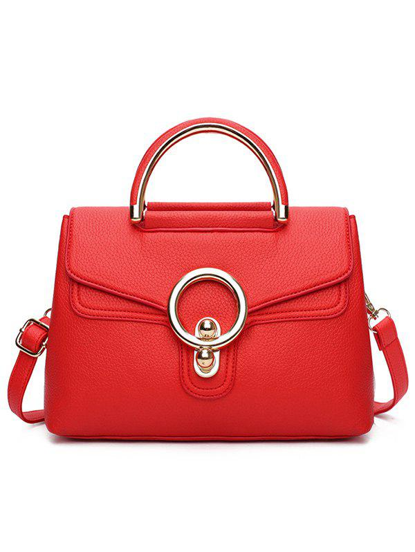 Discount PU Leather Casual Shopping Handbag