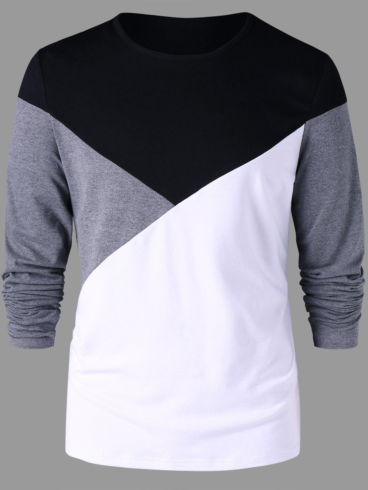 Outfits Long Sleeves Two Tone T-shirt