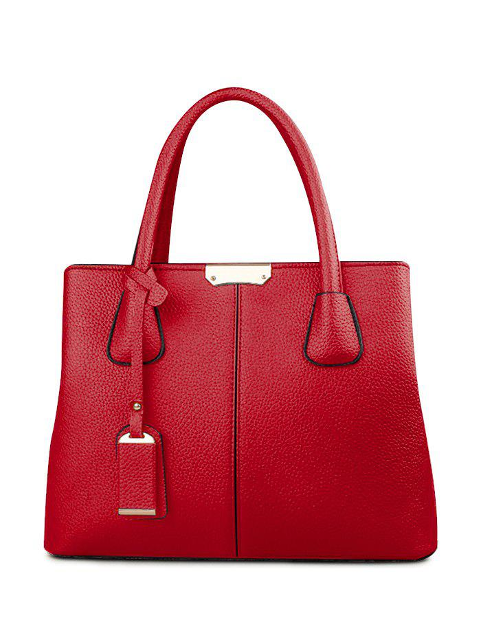 Trendy Casual Minimalist PU Leather Handbag