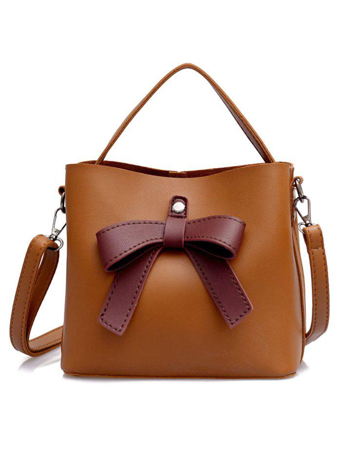 Store PU Leather Bowknot Top Handle Crossbody Bag