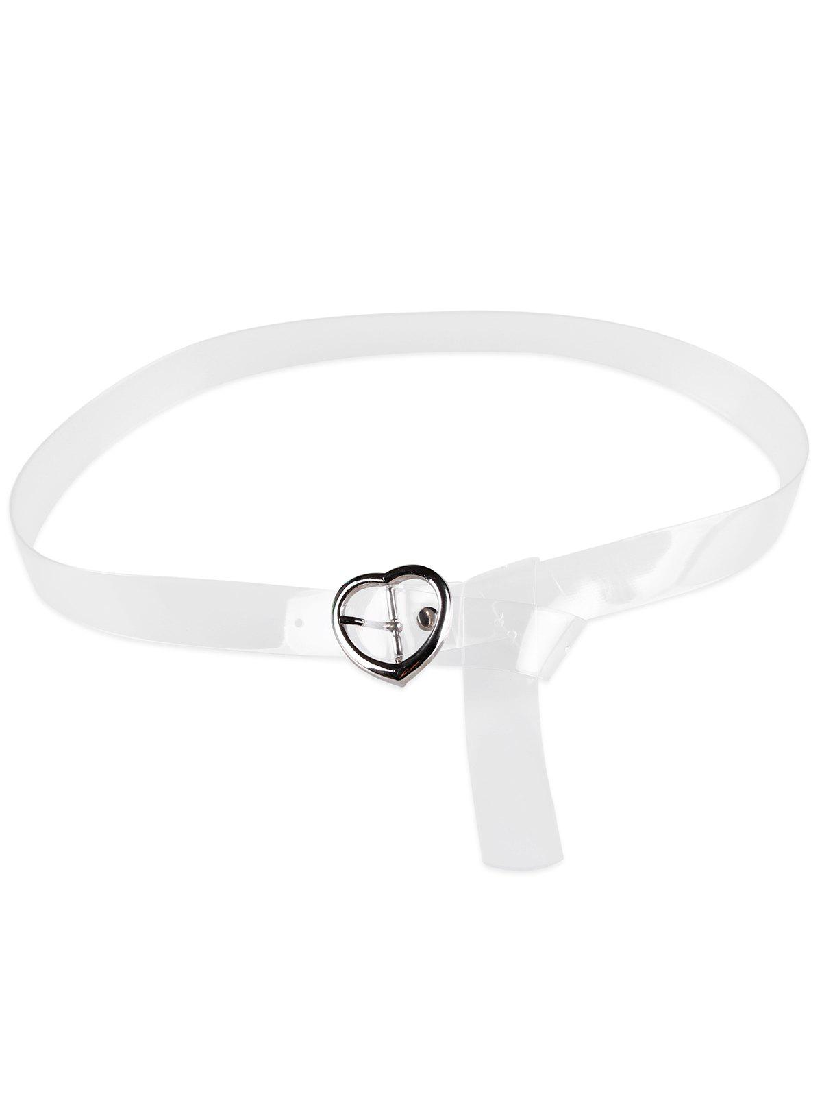 Outfit Unique Heart Buckle Transparent Waist Belt