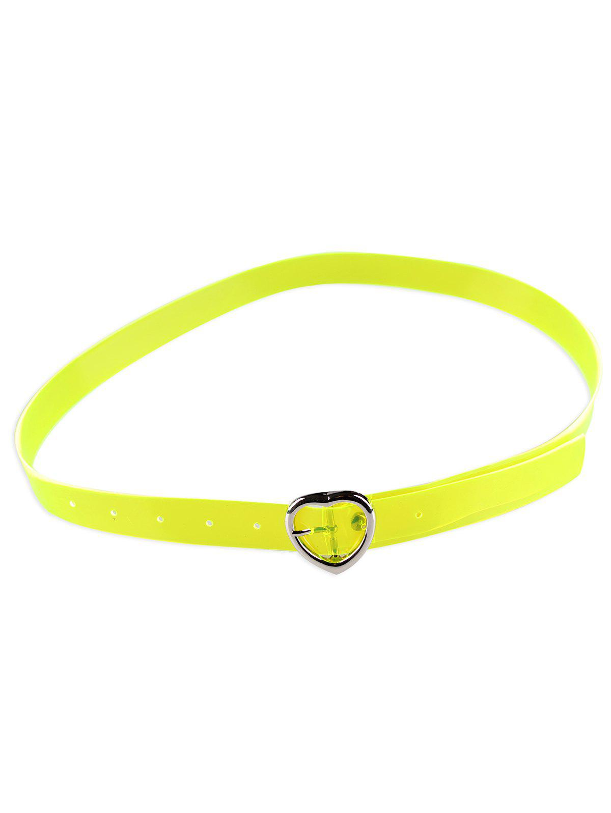 Affordable Unique Heart Buckle Transparent Waist Belt