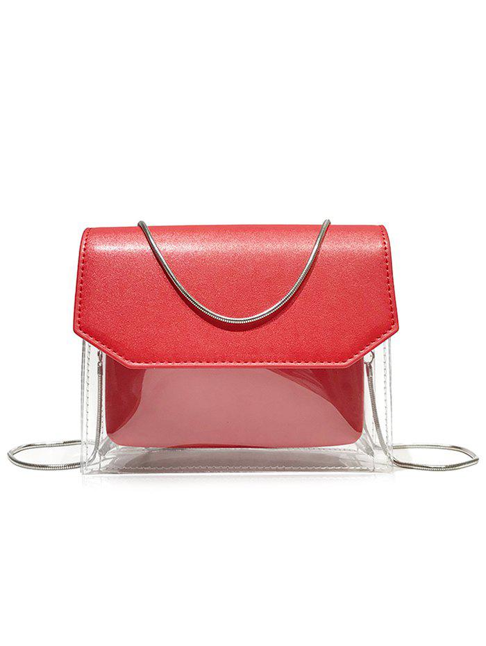 Outfit Transparent Waterproof Snake Chain Crossbody Bag with Pouch Bag