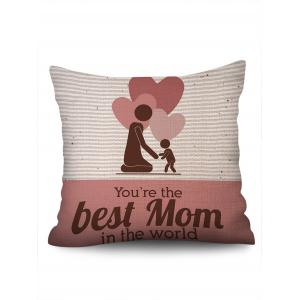 Gift Hearts Mother and Son Pattern Pillow Case for Mother's Day -