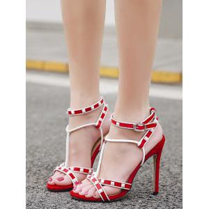 Prom Stiletto Heel Studded Sandals -