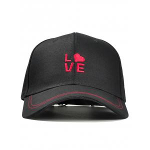 Romantic LOVE Embroidery Snapback Hat -