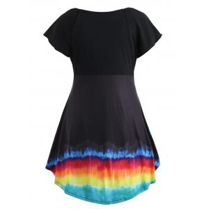 Plus Size Rainbow Ruched T-shirt -