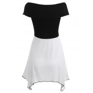 Short Sleeve Layered Asymmetrical Dress -