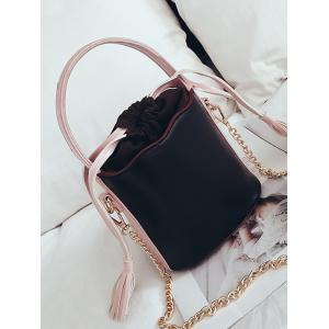 Tassel String PU Leather Cross Body Bag -