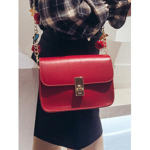 Flap Hasp Closure Star Embellished Chain Crossbody Bag -