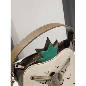 Cut Out Contrasting Color Crossbody Bag -