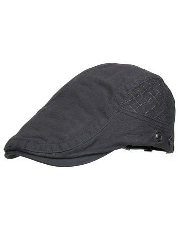 Latest Outdoor Plaid Embroidery Breathable Ivy Hat
