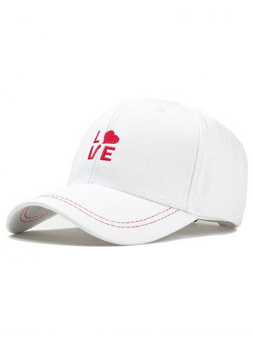 Fashion Romantic LOVE Embroidery Snapback Hat