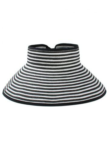 Latest Striped Pattern Open Top Foldable Summer Hat