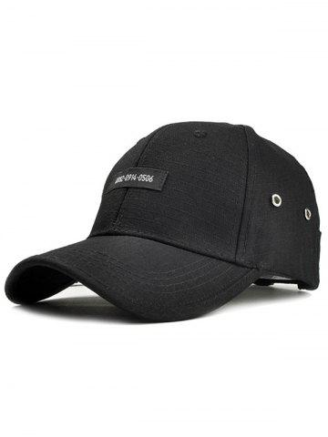 Chic Numbers Label Adjustable Graphic Hat