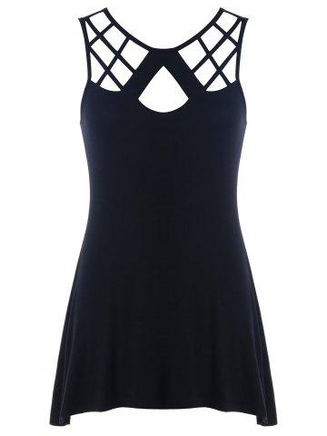 Outfits Cut Out Lattice Front Lace Up Tank Top