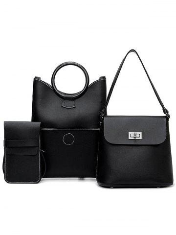 Store PU Leather Simple Design 3 Pieces Shoulder Bags