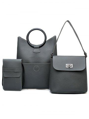 Shops PU Leather Simple Design 3 Pieces Shoulder Bags