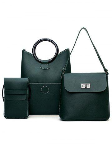 Outfits PU Leather Simple Design 3 Pieces Shoulder Bags