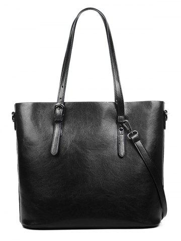 Buy PU Leather Light Tote Bag with Shoulder Strap