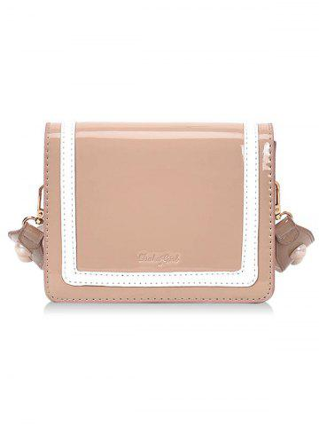 Outfits Stripe Two Tone Patent Leather Crossbody Bag