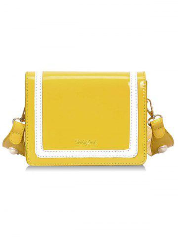 Sale Stripe Two Tone Patent Leather Crossbody Bag