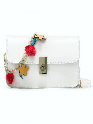 Best Flap Hasp Closure Star Embellished Chain Crossbody Bag
