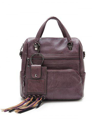 New Multi Pockets PU Leather Big Capacity Handbag