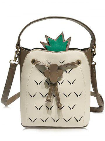 Fashion Cut Out Contrasting Color Crossbody Bag