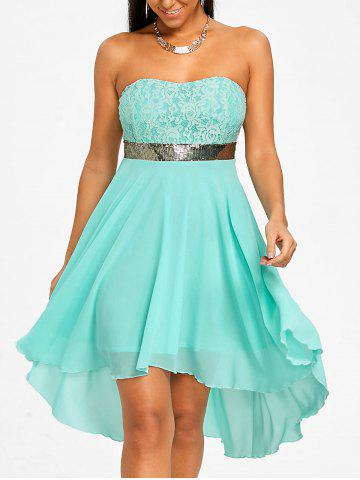 Shops Chiffon Cocktail Bandeau Dress