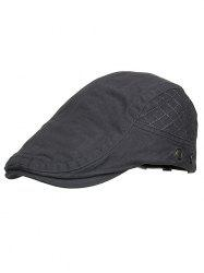 Outdoor Plaid Embroidery Breathable Ivy Hat -