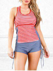 Cut Out Stripes Surf Tankini Maillots de bain -