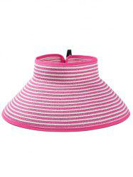 Striped Pattern Open Top Foldable Summer Hat -