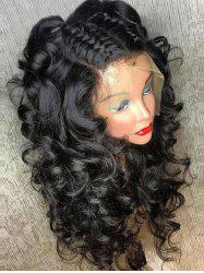 Free Part Fluffy Medium Curly Full Lace Human Hair Wig -