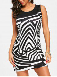 Abstract Geometric Print Sleeveless Dress -