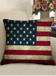 American Flag Print Decorative Linen Pillowcase - Multi - W18 Inch * L18 Inch