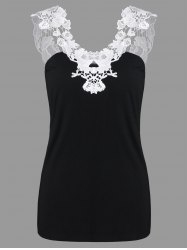 Lace Applique Cut Out Tank Top -