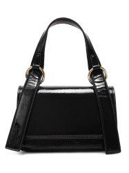 Minimalist Flap Patent Leather Shoulder Bag -