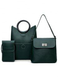 PU Leather Simple Design 3 Pieces Shoulder Bags -
