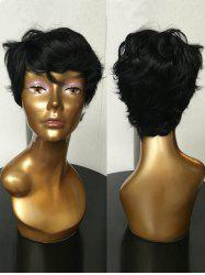 Short Side Bang Slightly Curly Synthetic Wig -