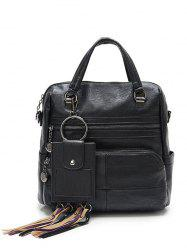 Multi Pockets PU Leather Big Capacity Handbag -