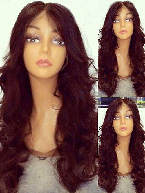 Fashion Long Center Parting Wavy Party Synthetic Fiber Wig