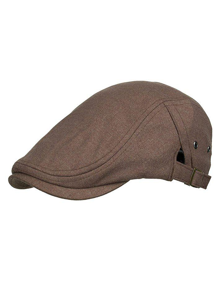Fashion Solid Color Breathable Newsboy Hat