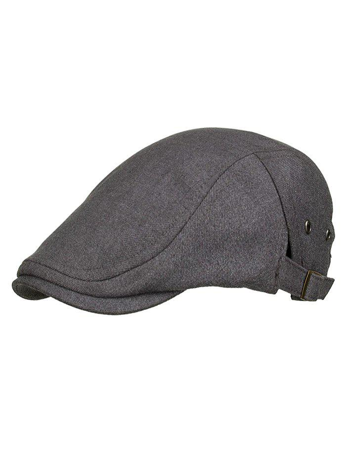 Unique Solid Color Breathable Newsboy Hat