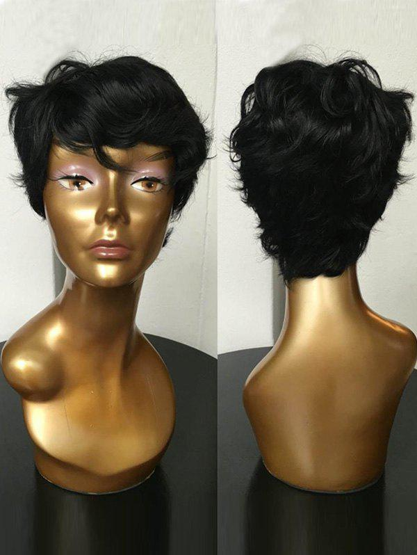 Hot Short Side Bang Slightly Curly Synthetic Wig