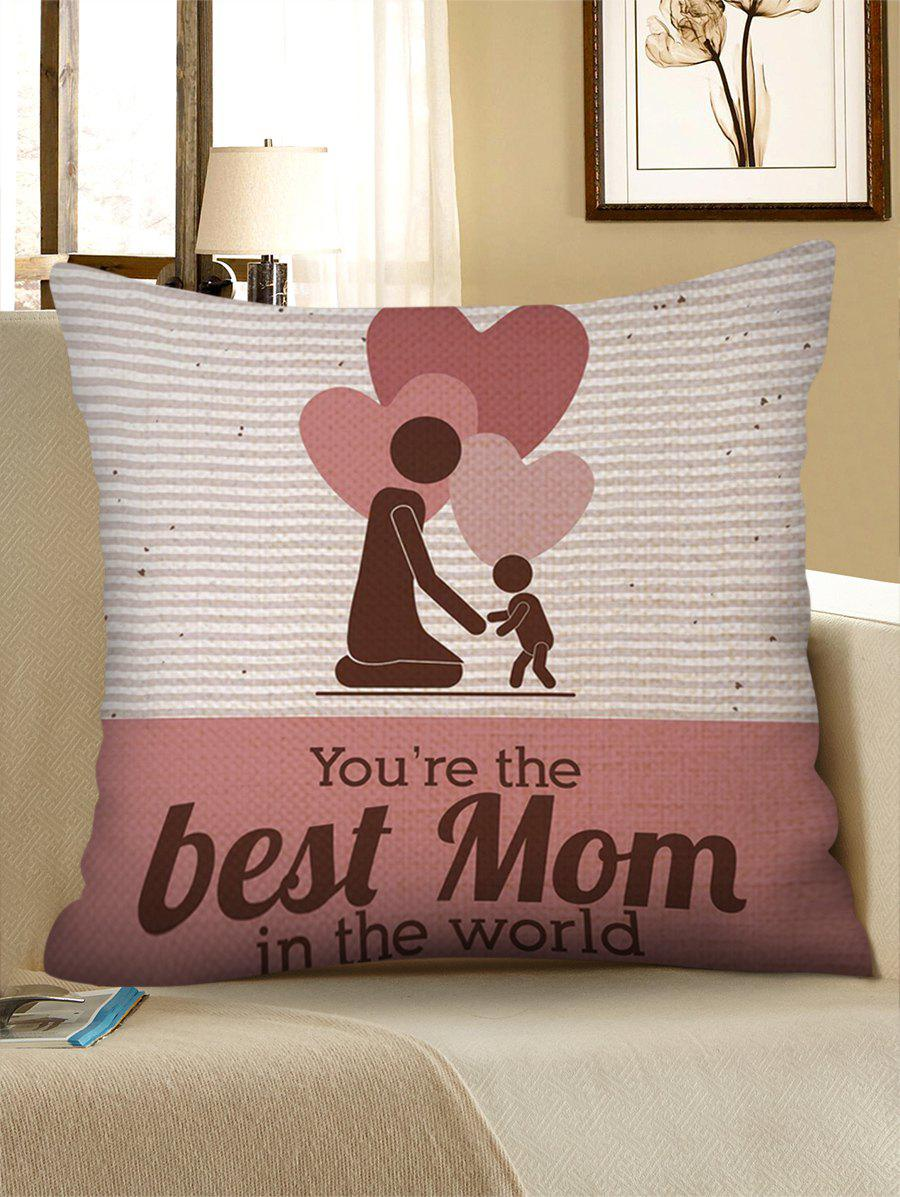 Shops Gift Hearts Mother and Son Pattern Pillow Case for Mother's Day