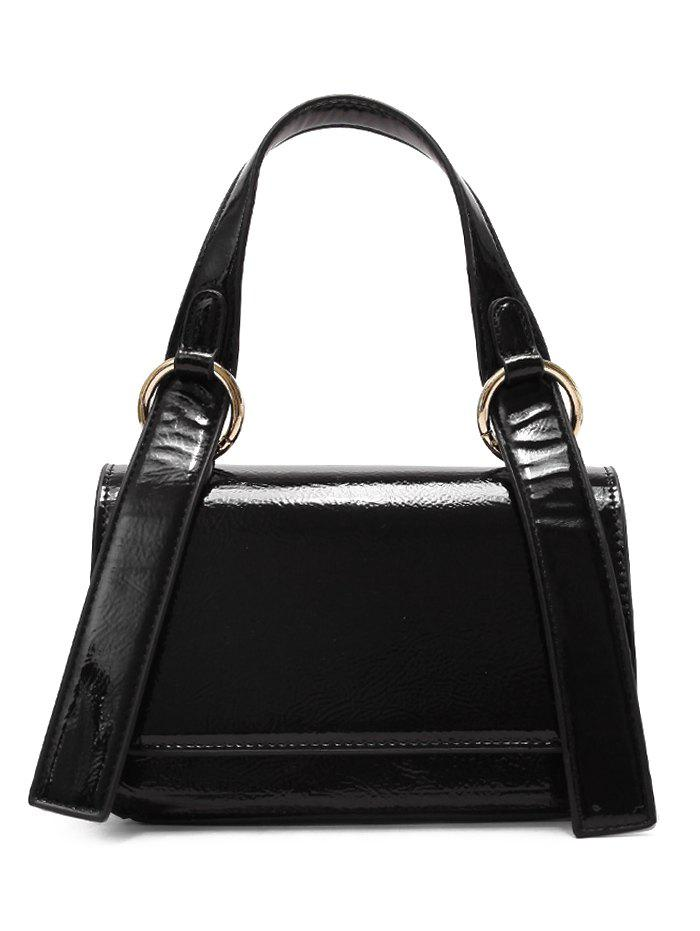 Chic Minimalist Flap Patent Leather Shoulder Bag