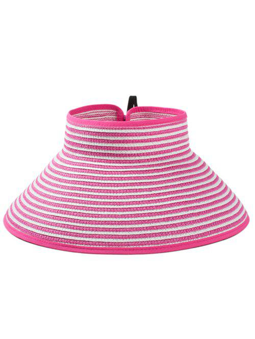 New Striped Pattern Open Top Foldable Summer Hat